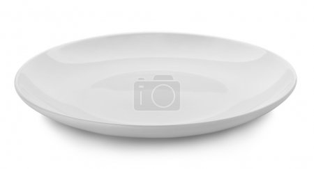 Photo for White plate on white background - Royalty Free Image
