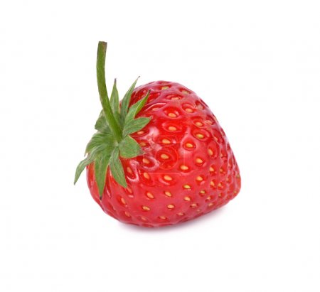 Photo for Red berry strawberry isolated on white background - Royalty Free Image