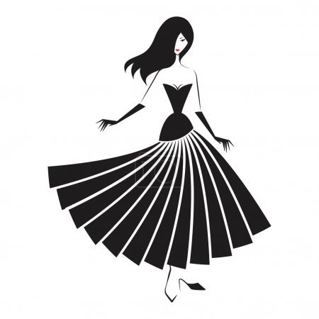 woman in the ball gown silhouette