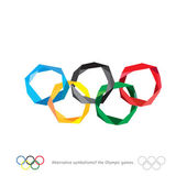 The Olympic rings The Olympic rings Alternative symbolism of the Olympic games Polygonal rings of the Olympics