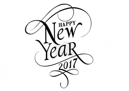 Happy New Year 2017 Lettering