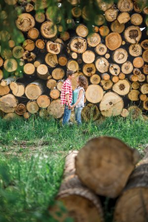 Couple at tree-felling