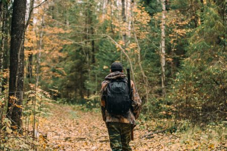 Man hunter in forest