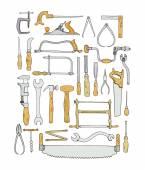 Carpenters toolkit illustration
