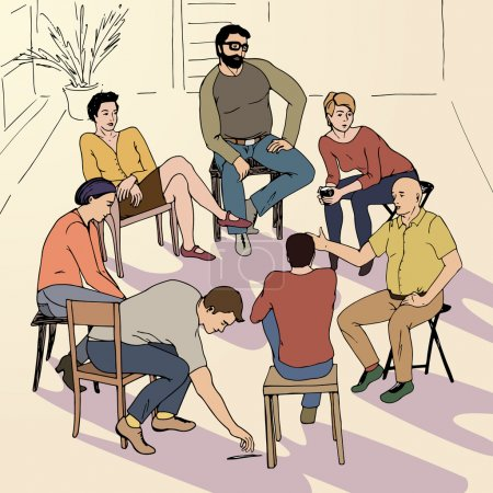Group therapy illustration