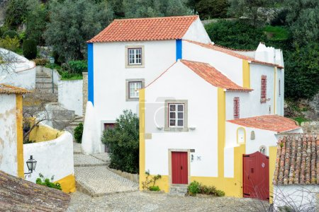 Houses of Obidos and the fortress wall
