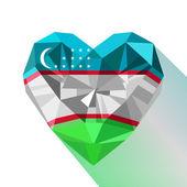 Vector crystal gem jewelry Uzbekistan's heart of the Republic of Uzbekistan