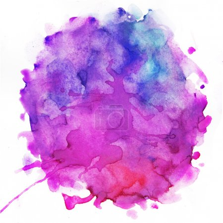 Photo for Watercolor splash texture background - Royalty Free Image