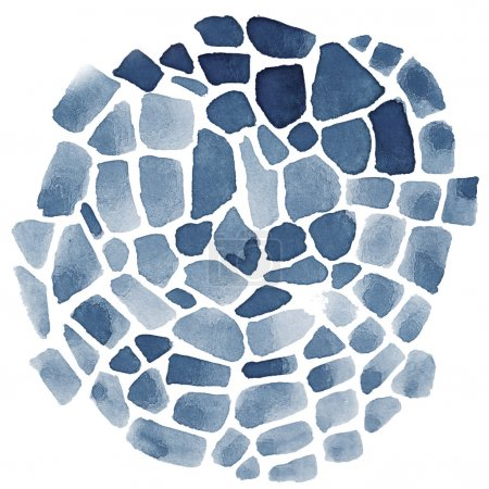 Photo for Abstract watercolor mosaic on white background - Royalty Free Image