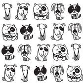 Set of cute dogs