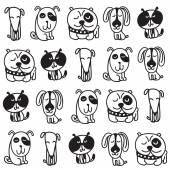 Set di cani svegli