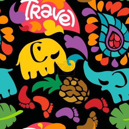 Fresh colorful travel pattern