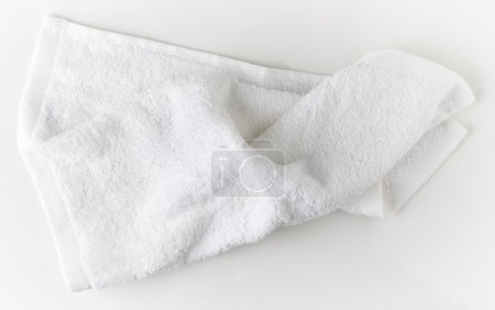Photo for White spa towel, top view - Royalty Free Image