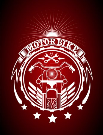 Motorbike vintage racing typography, t-shirt graphics,