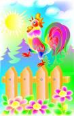 Illustrazione di bella gallo