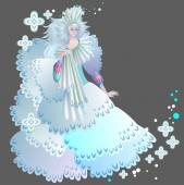 Illustration of snow queen