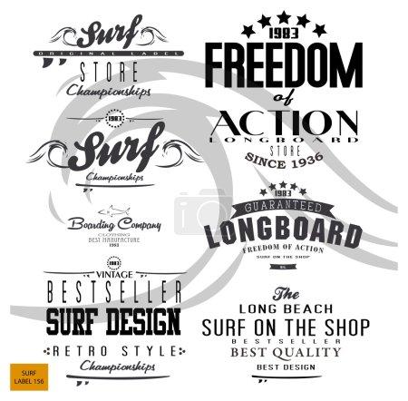 vintage surf elements