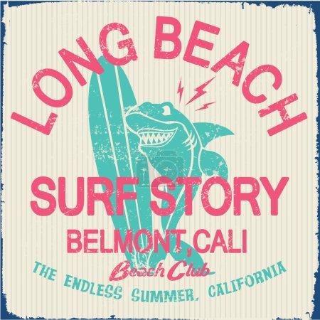 vintage surf elements, labels