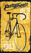 Retro Illustration Bicycle posters