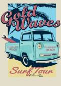 pick up car with surf boards