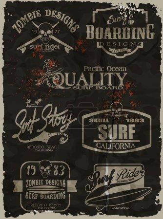vector surf print set