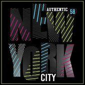 New York City neon typography
