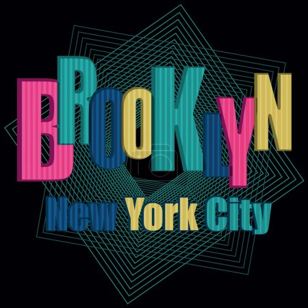 Brooklyn neon typography