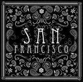 San Francisco bandana typography