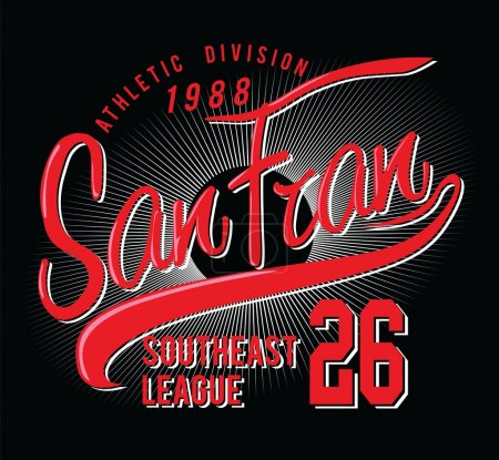 Athletic San francisco typography