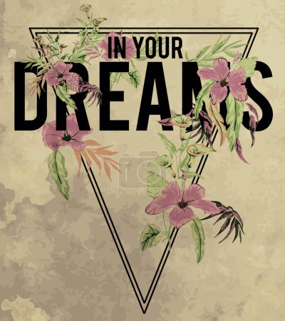 In your Dreams slogan print