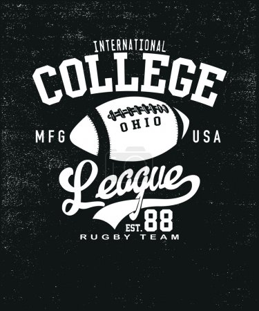 VECTOR COLLEGE RUGBY LEAGUE PRINT
