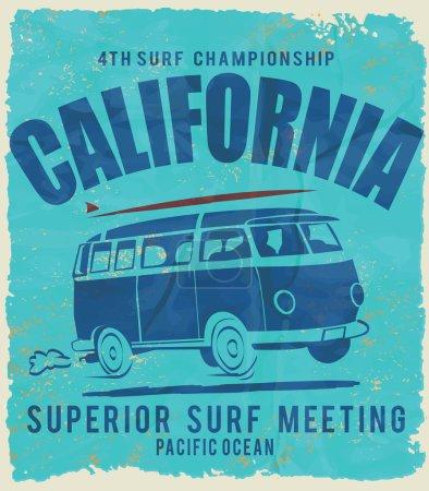 vector surf car illustration