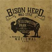 Vintage western label design with grunge background effect