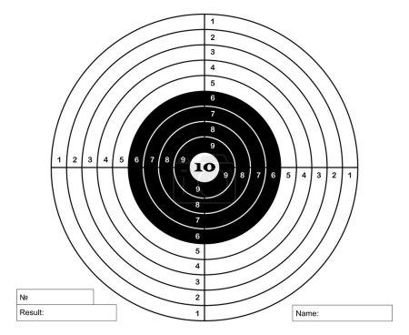 Illustration pour Marque de prise de vue en noir et blanc - image libre de droit
