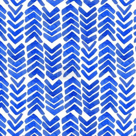 Watercolor shibori indigo seamless pattern.