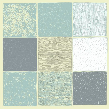 Set of 9 Hand Drawn Textures Made with Ink pen.