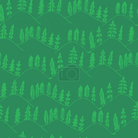 Green forest pattern seamless.