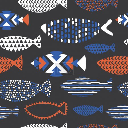 Fish seamless pattern.