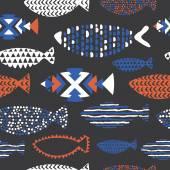 Vzor bezešvé ryb