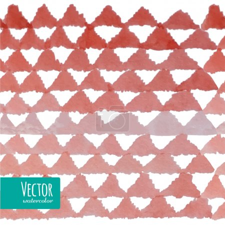 Red watercolor triangles pattern in vector.