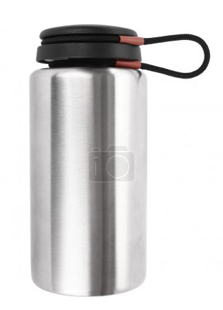 Vacuum flask thermos isolated on white