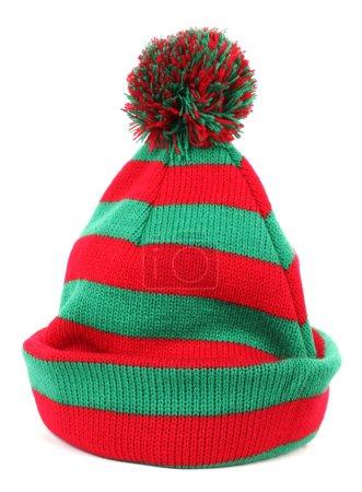 Gorra de invierno verde rojo