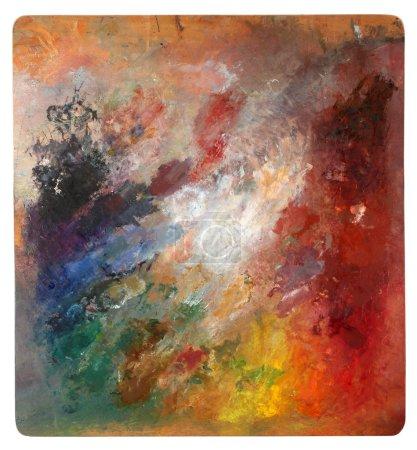Holzpalette mit gemischten Farben