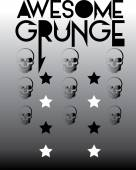 Awesome grunge skull pattern
