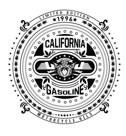 Motor gasoline typography, t-shirt graphics