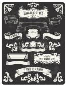 Retro vintage nápis a stuha