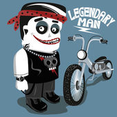 Legendary biker cartoon