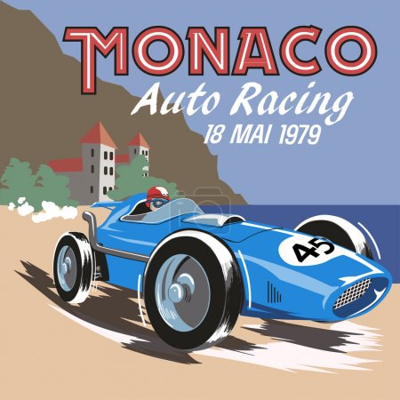 Monaco retro car race.