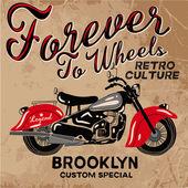 Motorcycle retro style