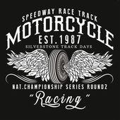 Motorcycle racing typography